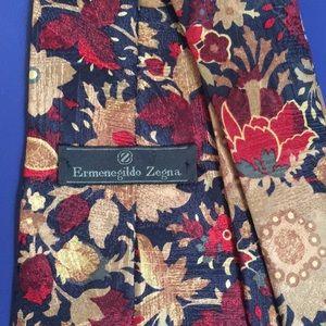 Zegna floral tie — rich autumn colors